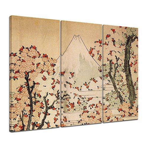 bilderdepot24-imagen-lienzo-katsushika-hokusai-viejos-maestros-vista-al-monte-fuji-con-el-florecimie