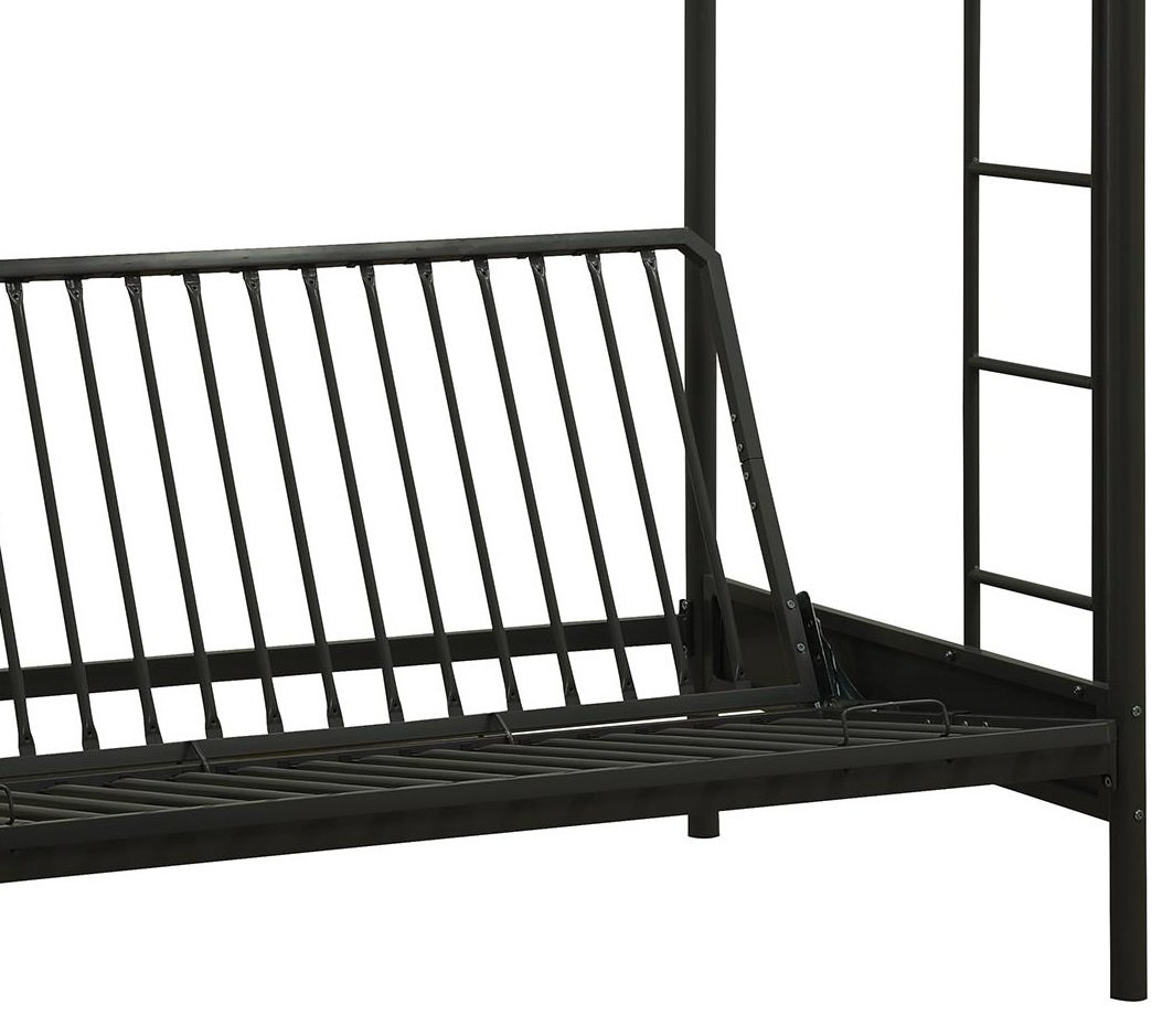 DHP Over Futon Metal Bunk Bed, Black