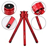 ADAI Aluminum Alloy Mini Tripod Tabletop Tripod for Camera/DSLR Camera, Lightweight and Portable Tripod Mini Tripod for Phone/Projection/Zhiyun Stabil
