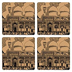 Posterboy The Mecca Mosque MDF Coaster Set, Set of 4, 101mm, Multicolor