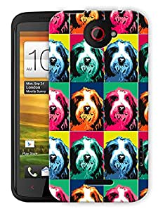 """Humor Gang Retro Dog Pattern Printed Designer Mobile Back Cover For """"HTC ONE X"""" (3D, Matte, Premium Quality Snap On Case)"""
