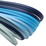 ARRICRAFT 10 Bags Blue 6 Colors Quilling Paper Strips Gradual Color for DIY Crafts Home Decoration, 390x3mm, About 120strips/bag, 20strips/Color (Color: blue)