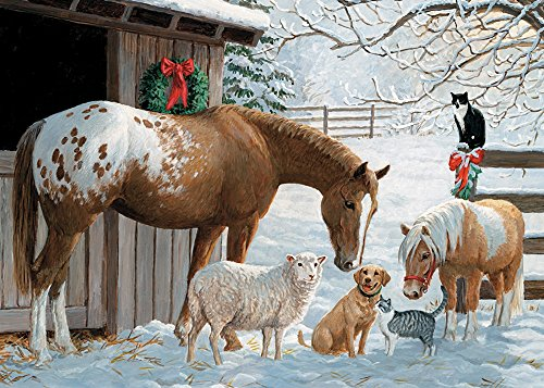 Cobble Hill Barnyard Greetings Jigsaw Puzzle, 35-Piece