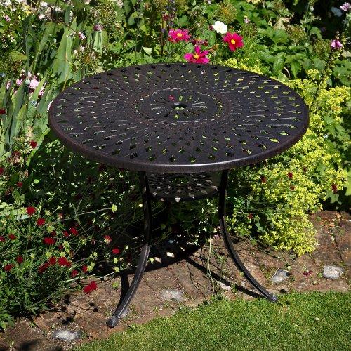 Mia 90cm rundes Gartenmöbelset Aluminium – 1 MIA Tisch + 4 ROSE Stühle jetzt kaufen