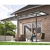 Hochwertige Aluminium Terrassenüberdachung, Terrassendach 300x1092 cm (TxB) - grau