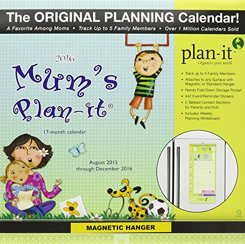 Mum's Plan-It August 2015 Through December 2016 17-Month Calendar: Includes 442 Event/Reminder Stickers and Magnetic Hanger PDF