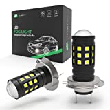 YINTATECH H7 LED Fog Lights Bulbs Extremely Bright for DRL NOT Headlight 2 Yrs Warranty (Color: H7)