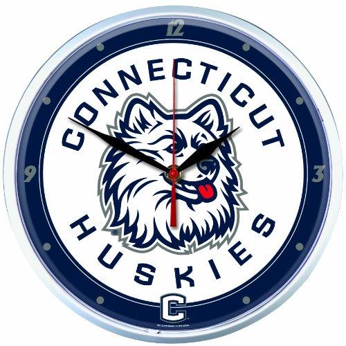 NCAA Connecticut Huskies Round Clock