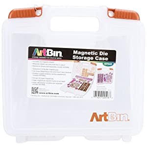 ArtBin Magnetic Die Storage Case - Clear Storage Container, 6978AB (Color: Multicolor, Tamaño: Pack of 1)