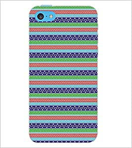 PrintDhaba Pattern D-5154 Back Case Cover for APPLE IPHONE 5C (Multi-Coloured)