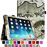 Fintie Apple iPad Air Folio Case - Slim Fit PU Leather Smart Cover with Auto Sleep / Wake Feature for iPad Air (iPad 5th Generation) 2013 Model, Map Design