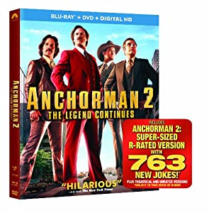 Anchorman 2: The Legend Continues (Blu-ray + DVD + Digital HD)