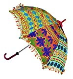 Decorative Handmade Embroidered Work Design Ethnic Umbrella 24 x 28 Inches