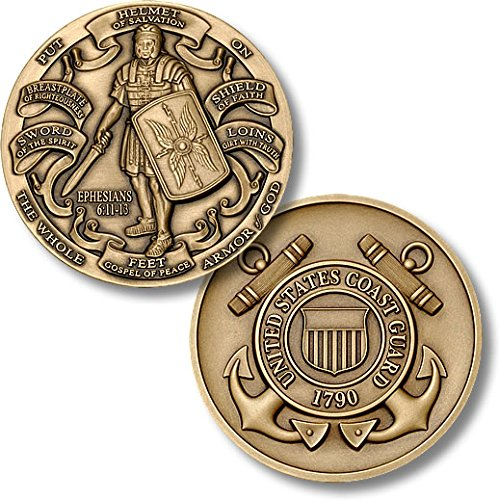 Armor of God High Relief - Coast Guard Challenge Coin