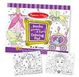 Melissa & Doug Princess & Fairy Jumbo Coloring Pad