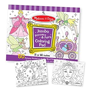 Melissa & Doug Princess & Fairy - Jumbo Coloring Pad