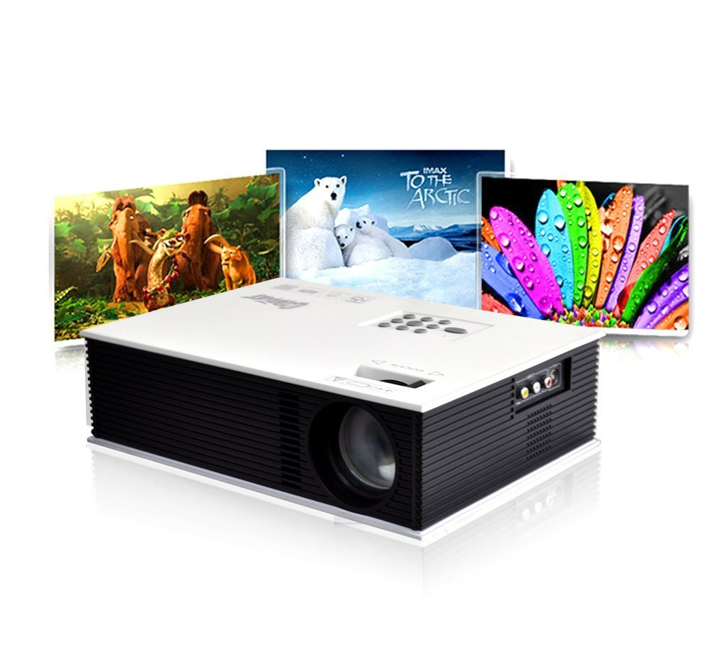 Cooligg UC80 HD 1080P Home Theater Multimedia LCD Projector Compatible AV VGA USB HDMI TV DVD PS (Native WVGA 800x480)