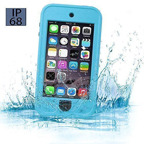 iPod 5 6 Waterproof Case, Waterproof Shockproof Dirtproof Snowproof Case Cover with Kickstand for Apple iPod Touch 5th/6th Generation for Boys Girls Kids, Built-in Touch Screen Protecto(Blue) (Ipod For Kids compare prices)