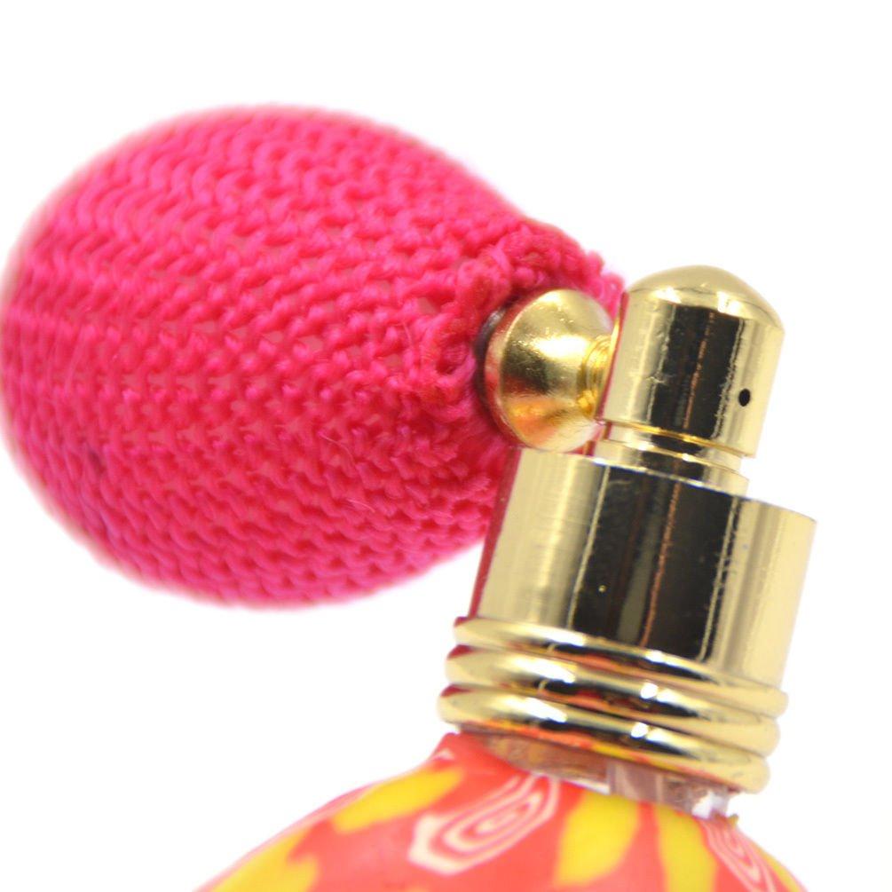 Lychee Vintage Gasbag Spray Perfume Bottle Atomizer Essential Oil Refillable Random Floral