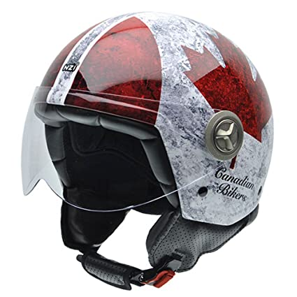 NZI 050267G700 Zeta Graphics Canadian, Casque de Moto, Taille L Multicolore