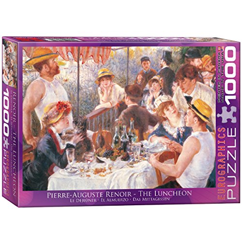 Eurographics Luncheon of The Boating Part by Pierre Auguste Renoir 1000-Piece Puzzle