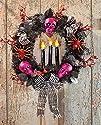 Led Lighted Spooky Halloween Wreath D…
