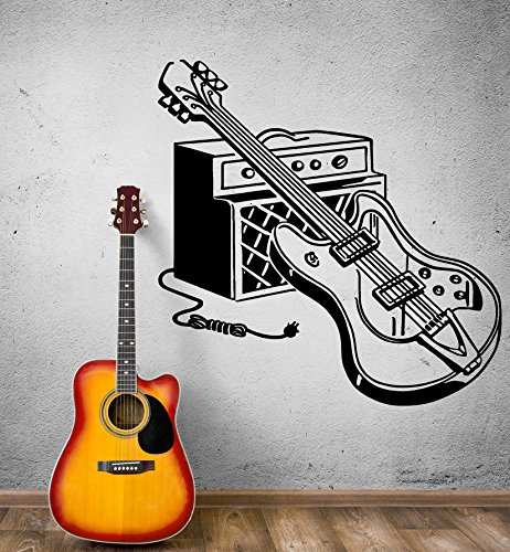 Wall Stickers Vinyl Decal Electric Guitar Rock Music Decor (Ig1861)