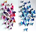 3D Butterfly 12PCS for Blue and 12 PC...