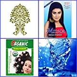 100g Pure Indigo + 100g Certified Organic Pure Henna Powder Hair Color