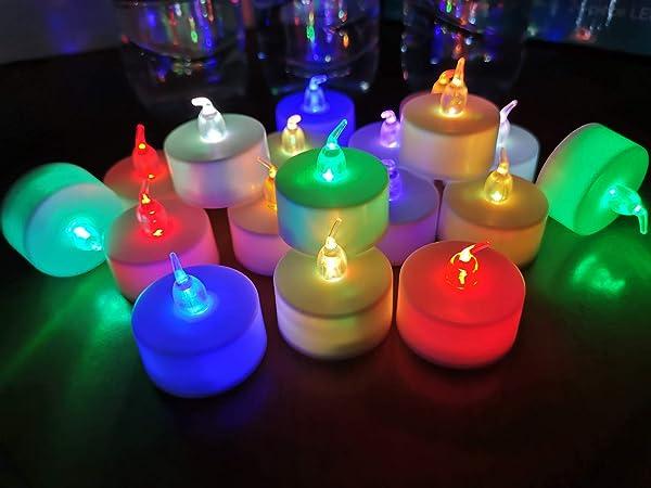 Tea Light Flameless LED Candle Battery Christmas Wedding home ZX