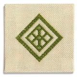 オリムパス製絲 こぎん刺製作キット コースター(緑)19