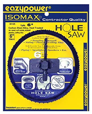 """EazyPower 6"""" Hole Saw for CornHole Boards by Eazypower"""