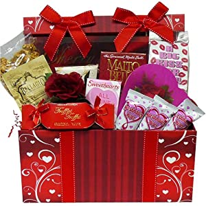 Art of Appreciation Gift Baskets Sweet Love Chocolate and Treats Gift Box Valentine's Day Gift Set
