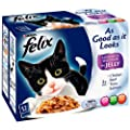 Felix AGAIL Pouch GiJ Favourites 12 x 100 g (Pack of 4)