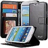 Galaxy S3 Case,By Ailun(TM),Samsung Galaxy i9300 Case,Wallet Case,Card Holder Case,PU Leather Flip Case Cover[Black]