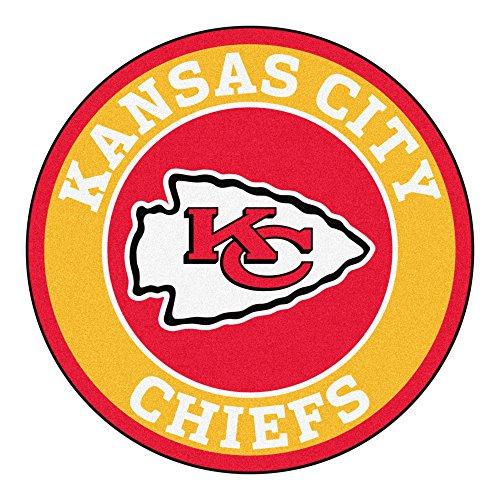 FANMATS 17963 NFL Kansas City Chiefs Roundel Mat (Kansas City Chief Car Mats compare prices)