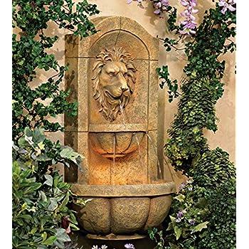 Lion Head Faux Stone 29 1/2