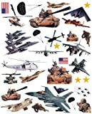Brewster Home Fashions ST96411 Military Wall Stickers Pack of 2