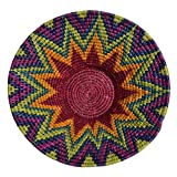 African-Fair-Trade-Hand-Woven-12-inch-Basket-Rainbow