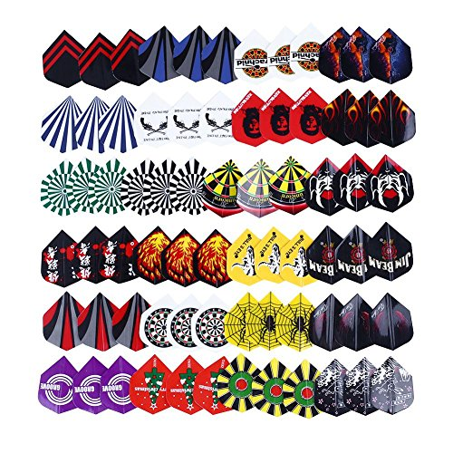 Purchase Relefree 24 sets 72pcs 2D Cool Bling Standard Dart Flights Nice Darts Tail Wing Flight Outd...