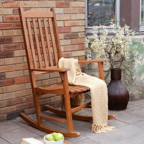 Coral Coast Indoor/Outdoor Mission Slat Rocking Chair - Natural front-857195