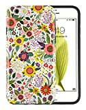 """iPhone 6S Case, Dimaka Floral Pattern Prime Cute Floral Inked Pattern Hybrid 2 in 1 Protective Candy Shell with Safe Rubber and Pime Girly Hardcover for iPhone 6/6S 4.7"""" - Bush Flower [Shiny]"""