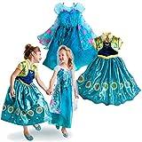 ディズニー (Disney) アナと雪の女王 エルサのサプライズ アナ&エルサ 豪華コスチューム ドレス 2枚セット ディズニーストア (5/6 (120cm)) [並行輸入品]