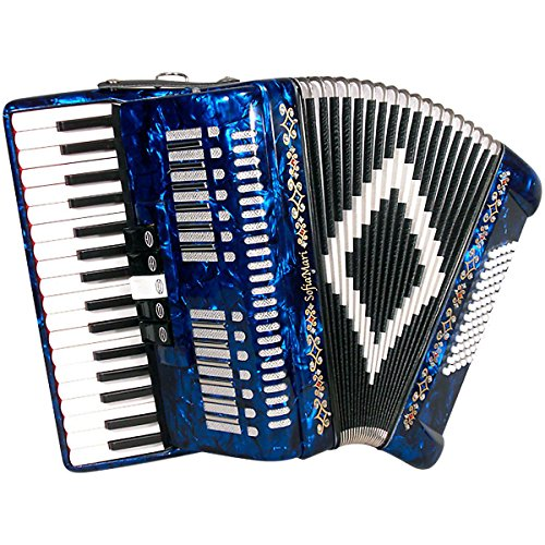 Best Deals! SofiaMari SM 3472 34 Piano 72 Bass Button Accordion Dark Blue Pearl