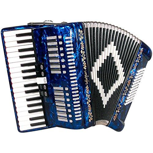 Best Deals! SofiaMari SM 3472 34 Piano 72 Bass Button Accordion Dark Blue Pearl