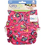 GroVia Cloth All-In-One Diaper, Peacocks, Newborn (Discontinued by Manufacturer)