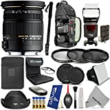 Sigma 17-50mm F2.8 EX DC OS HSM Zoom Lens for Canon DSLR Cameras + Complete Flash, Filter, Travel and Accessory Kit