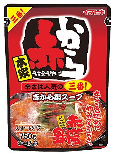 イチビキ ストレート赤から鍋スープ3番 750g×3個