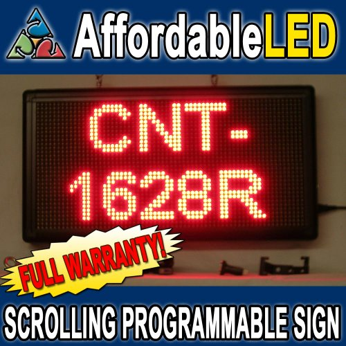 Programmable Scrolling Led Sign - Indoor Display - 16 Inch (H) X 28 Inch (W) (Red)