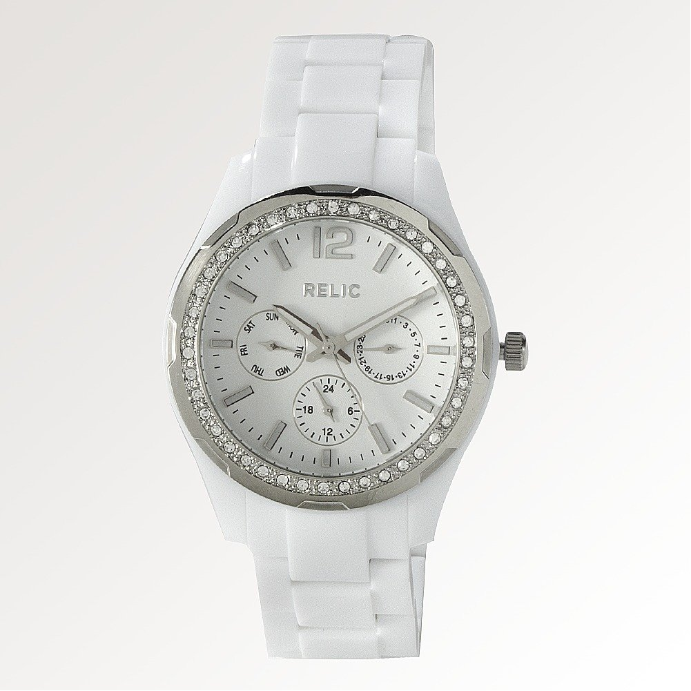 all new relic by fossil starla white chrono womens